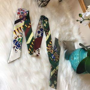 Accessories - brandew floral green twilly
